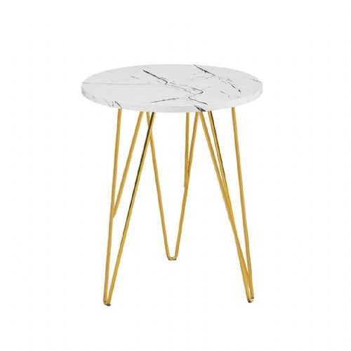 lamp Table AXE 159 White Marble Effect  By Denelli (1)